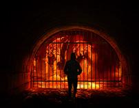 Lucifar Raising Monster From Hell Manipulation Photosho