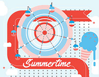 Winter and Summer- Seasonal Illustrations