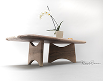 Raw Spanish Walnut coffee Table