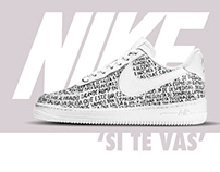 Custom Nike Air Force 1 - 'Si te vas'.