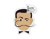 Stickers of famous person