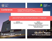 CONFERENZA: ARCHITETTURA CONTEMPORANEA A FIRENZE