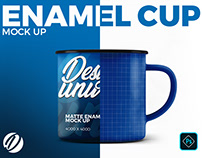 Matte Enamel Cup Mock-Up