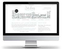 WEBSITE RE-DESIGN - Just Living Interiors