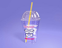 Disposable Transparent Plastic Cup Mockup