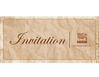 Nestlé Retirees Hi-Tea Invitation Card