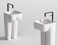 He and She freestanding washbasin concept