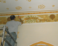 1994 Thomas Coat Church stencil and frieze restoration