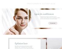 Site web pour une clinique esthétique
