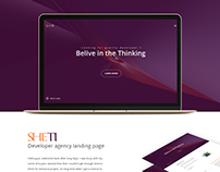 SHETI - agency PSD template freebie