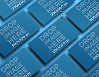 Business Card Mockup Featuring Multiple Business Cards