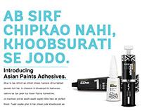 Asian Paints Adhesives -Print/Digital Campaign