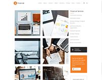 Services Sidebar Page - Financial WordPress Theme