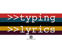Typing Lyrics