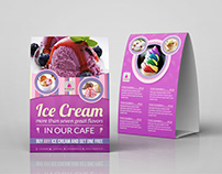 Ice Cream Table Tent Template Vol.5