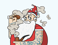 Hipster Claus | Illustration