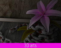 Flower in chain- 3D Arts