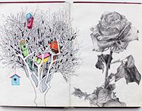 Burgundy 1 (my first sketch book)