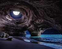 Day to Night Cave Beach