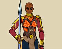 2D Animation test Okoye
