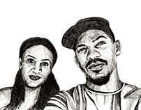 Couple's Portrait Drawing