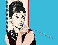Audrey draws Audrey