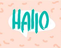 """Hallo"" logo"