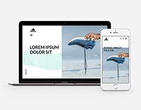 Prototype Website Responsive - Adidas | Parley