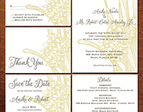 TALL ORCHID WEDDING INVITATION SUITE