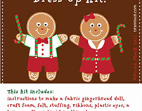 Gingerbread People Craft Kit
