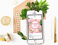 POP Christmas & New Year | Instagram Visual Identity