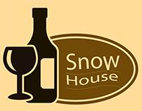 Snow House Logo Design for Wine Restaurant