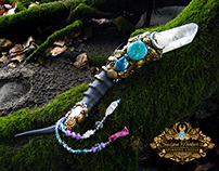 MERMAID SCEPTER Frosted Quartz Crystal Wand