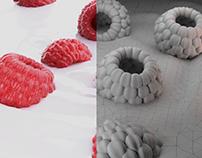 Raspberry / Framboesa - Blender 2.8