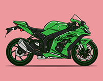 Bold Motorcycle Illustrations