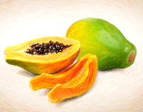 Digital Crayons - Still Life Paintings