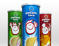 Potato Face Stacked Chips Packaging Design