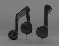 Musical Notes Headphones