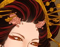 Bayushi Hanako - Character design.