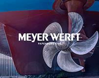 Meyer Werft — corporate website redesign