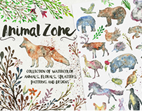 Animal Zone - watercolor animals