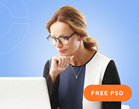 FREE PSD. Сайт бухгалтерии