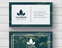 Botanist business card