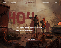 Fake 404 error page for The Walking Dead: Game WWW