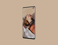 Free perspective Samsung Galaxy S10 PSD mockup