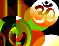 Om Symbol Abstract Design