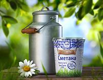 LYUBIMOYE. Milk products packaging design