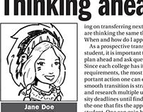 Schoolcraft newspaper editor caricatures