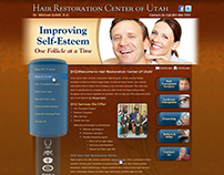 Hair Restoration Website - UI Wireframe Mockup