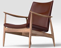 3D Visualisation - Rivage Easy Chair